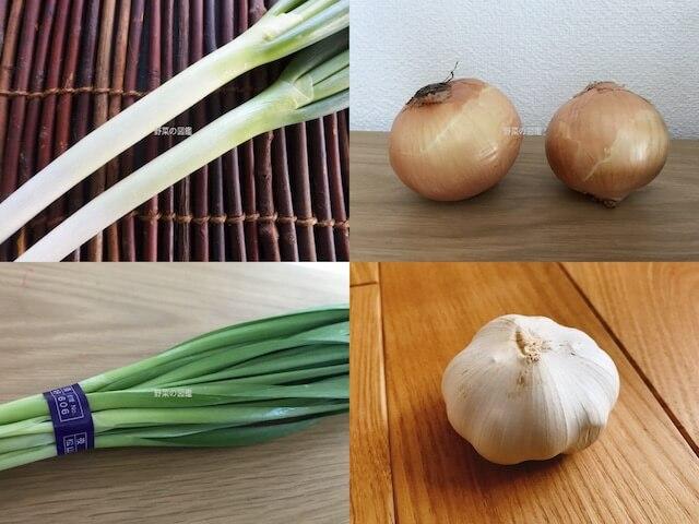 ユリ科の野菜(ネギ・玉ねぎ・ニラ・にんにく)